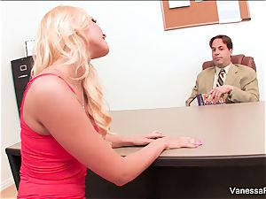 fantastic light-haired Vanessa cell entices the dean