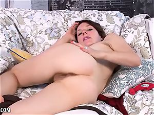 Rose Vermillion flaunts and jerks her furry cootchie