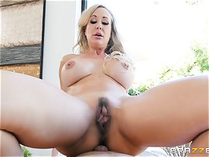 big-titted Brandi enjoy hammered and facialized by Keiran
