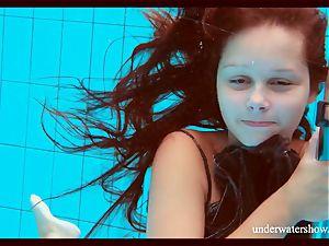 clean-shaven hottie Nata Szilva is a mermaid