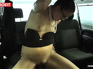 astounding fuck-fest In taxi taxi with Czech babe Samantha Joons