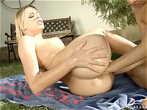 Alluring Blue Angle pushes her knuckle up this bitches labia