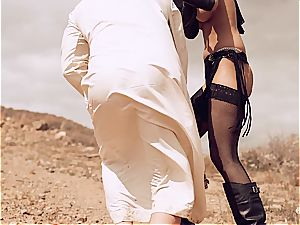 Arab doll plumbing her slave