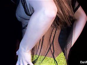 diminutive hottie Dani Daniels fingers her tight vagina