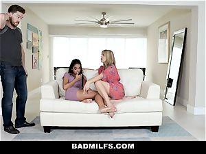 BadMILF - Jealous Stepmom three way With Stepson And gf