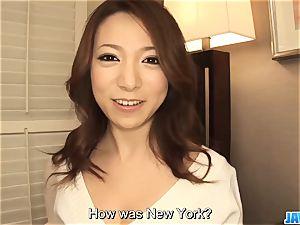 Subtitles - asian nymph Kanako Tsuchiyo deepthroats the dic