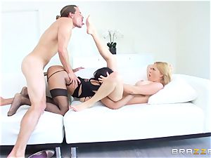 red-hot prostitute Anya Ivy joins stepmom Krissy Lynn for some joy