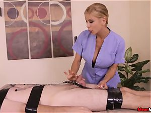 Alexis Fawx gives warm glad completing