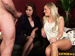 Cfnm beauty Charlie Holays fellating fuckpole