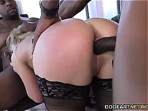 sumptuous mummy gang-fucked by black bulls