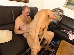 xxxOmas - Angelika J needs hard jizz-shotgun - german porn