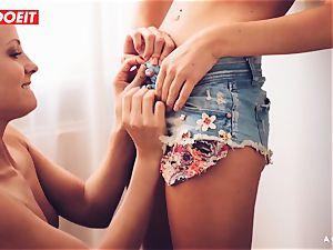 LETSDOEIT - nasty lesbians enjoy gobbling Their jiggly honeypots
