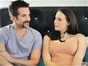 Spizoo - witness Chanel Preston deepthroating and poking
