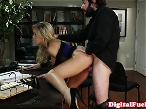 thick boobed Capri Cavanni slobbers on jizz-shotgun