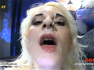 thin ash-blonde penetrated rock-hard and creamed