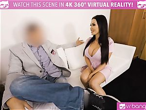 VR pornography - Thanksgiving Dinner becomes a naughty 3some