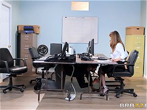muddy office babe Dillion Harper gets shafted at work