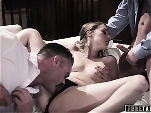 unspoiled TABOO babe Tricked Into revenge three-way with Strangers