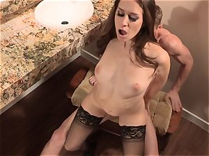 Cassidy Klein gets her gash sunk deep with bone