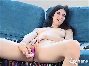 spasms hottie Bella Pantolino frolicking Her slit