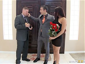 rough Rachel Starr romps red-hot manmeat in front of her spouse