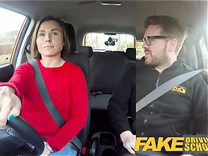faux Driving school Jealous learner with great fun bags