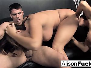 3-way hardcore feisty intercourse with Alison
