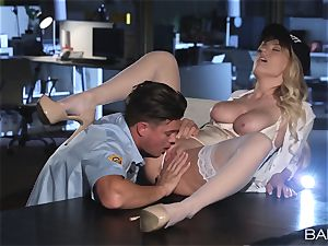 Natalia Starr pummeled by the night security guard