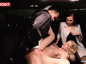 LETSDOEIT - secretary Hooks manager gal With orgy In cab