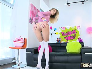 TRUE ass fucking diminutive blondie Haley Reed firm ass-fuck plumbing