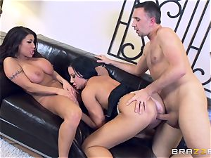 Sybil Stallone and her buddy frolicking with Keiran Lee and his immense stiffy