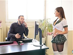 LA COCHONNE - filthy rectal with hot French college gal