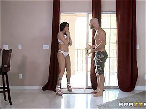 Romi Rain joins Kissa Sins to shag her boy