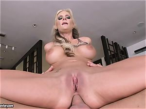 buttfuck paramour Phoenix Marie bounces her bootie on a enormous rod
