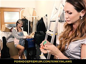 insatiable INLAWS - Gina Gerson boned by cougar with magic wand